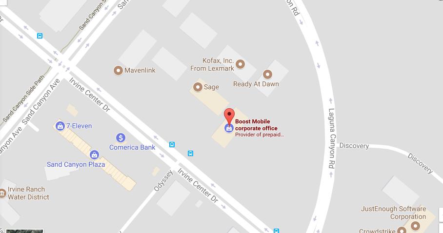 Boost Mobile Location