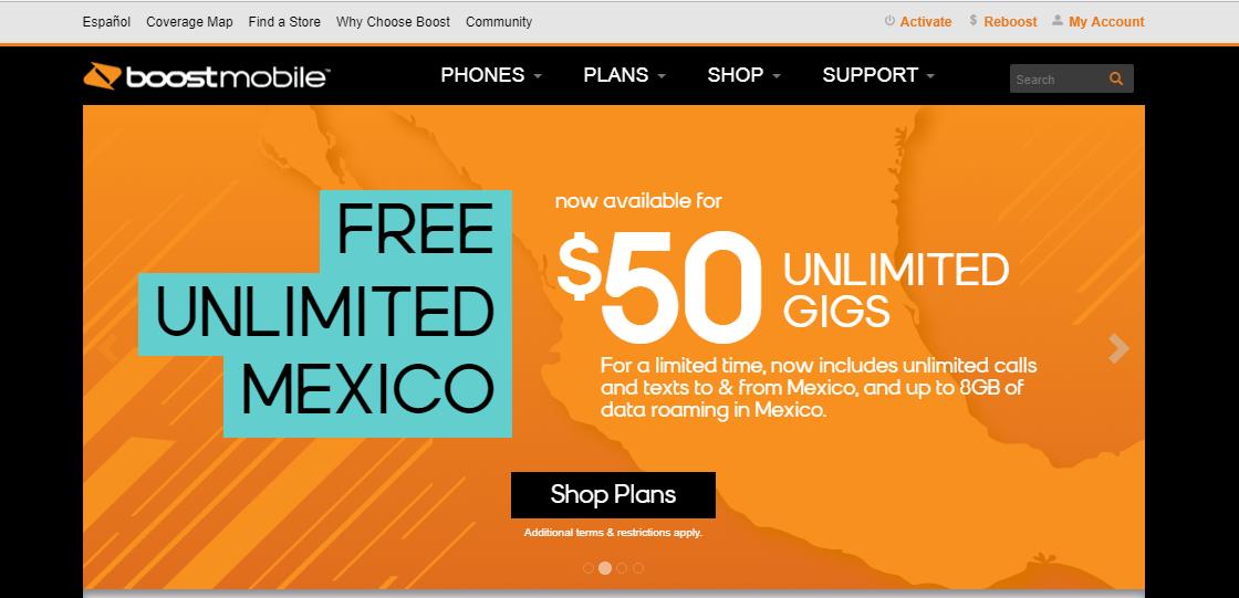 Boost Mobile headquarter location and customer service