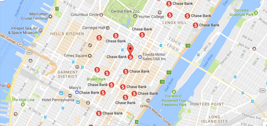 Chase Bank Location