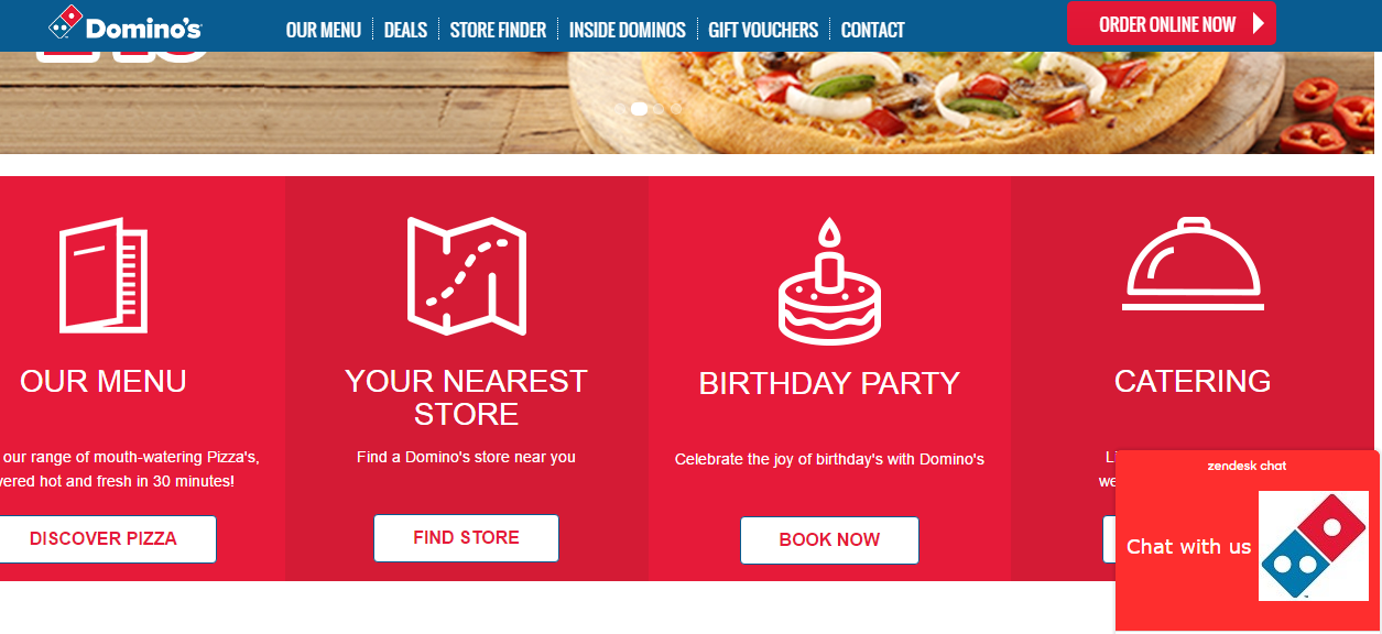 Dominos company headquarter location and customer service