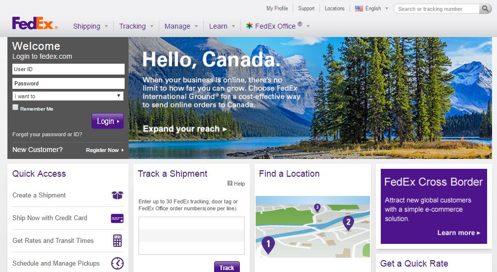 FedEx headquarter location and customer service