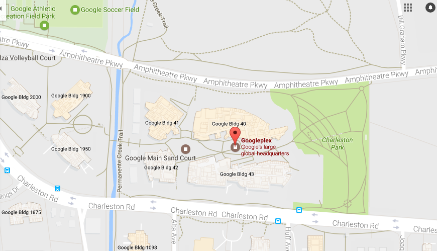 Google headquarter location and customer service