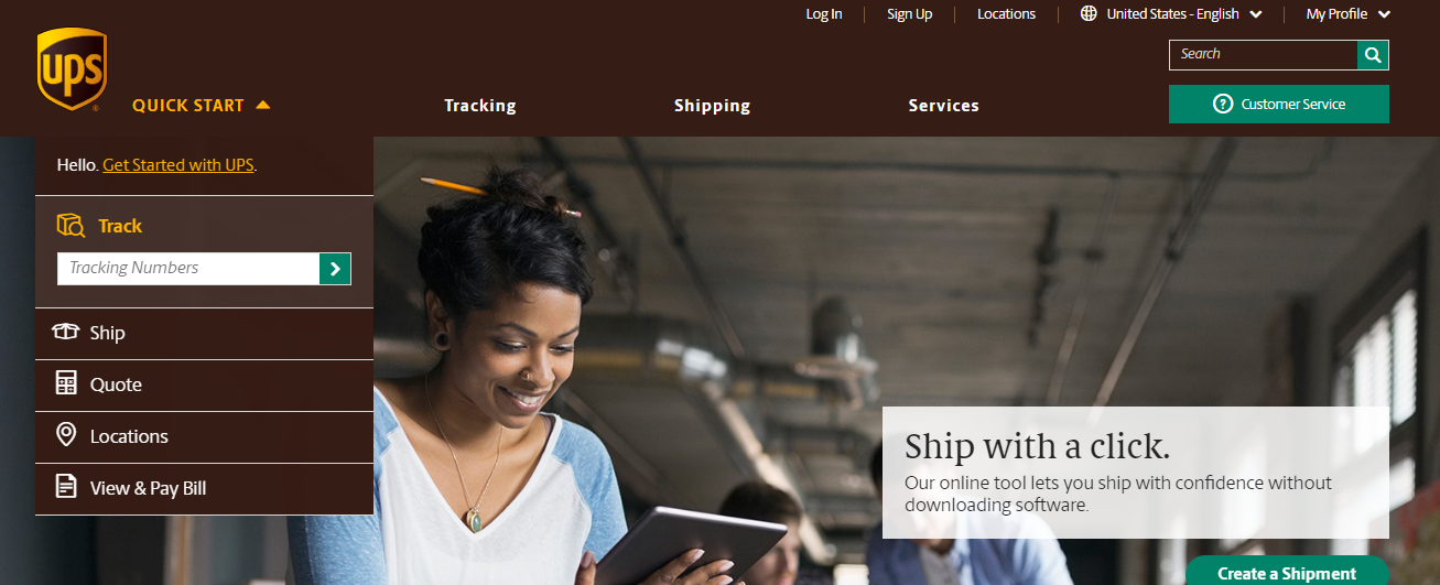Ups shipping quote