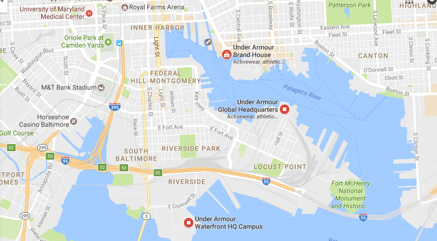 Under Armour company headquarter location