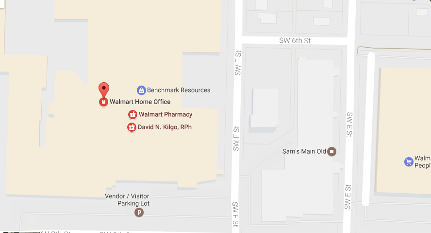 Walmart customer service location
