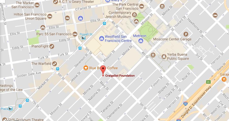 Craigslist Headquarters Address