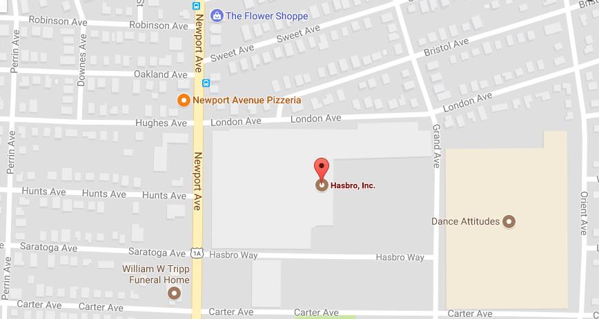 Hasbro headquarters corporate office address