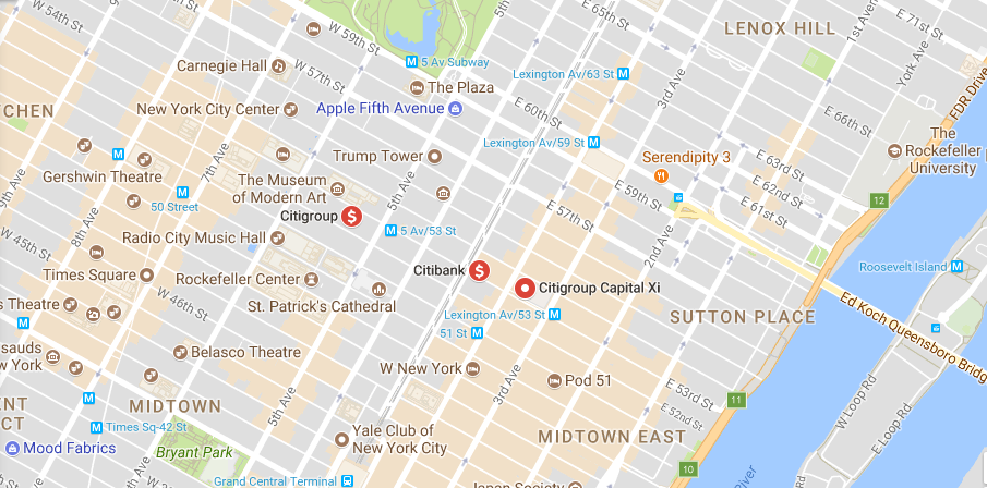 Citigroup location
