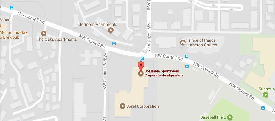 Columbia Sportswear Corporate Office Headquarters & Customer